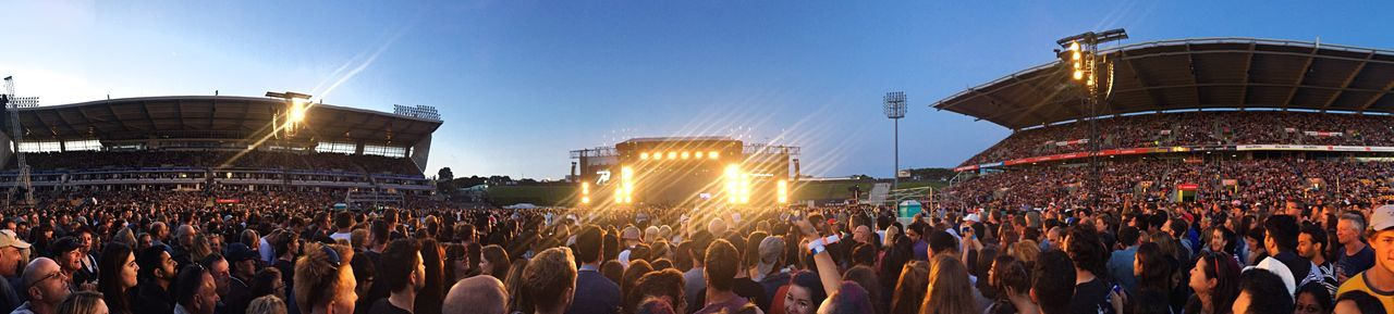 Coldplay Coldplay Concert  Auckland New Zealand Music Festival Amazing Panoramic Smart Stadium Large Group Of People Picoftheweek Travel Destinations Iphonephotography Afternoon Wide Angle