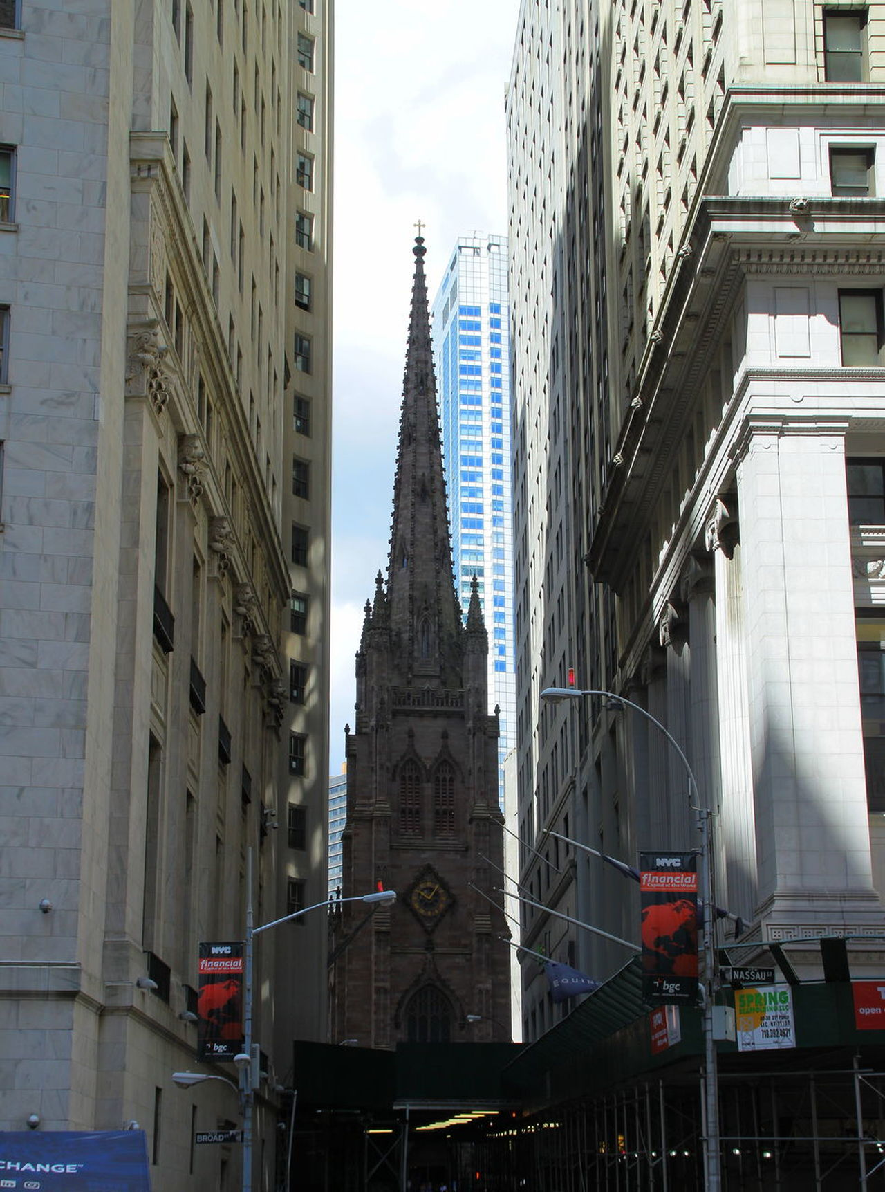 Church Church Tower Manhattan New York City Skyscrapers Wall Street In New York City Architecture Building Exterior Built Structure City Heights Lower Manhattan No People St Trinity Church Street Tower Wall Street