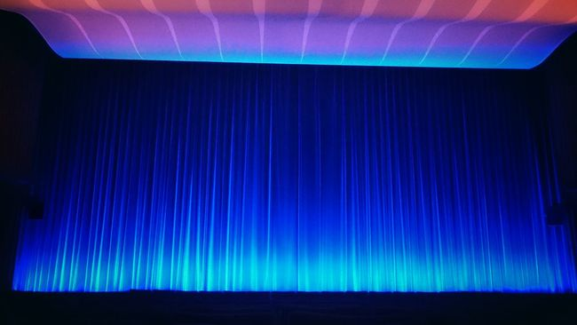 Watching a movie Cinema Blue No People Inside Empty Empty Places Emptyness Calmness Watching A Movie Enjoying Life Eye4photography  In A Row Screen Kino International Berlin Weekend Activities