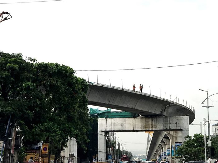 Bridge - Man Made Structure Connection Architecture Built Structure Transportation Tree Day Outdoors Clear Sky No People Sky Hyderabad Metro Rail Jubilee Checkpoint