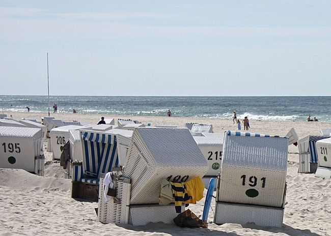 Beach Beauty In Nature Enjoying Life Germany Getting Inspired Hello World Holiday Hooded Beach Chair Horizon Over Water Kampen Leisure Activity Life Is A Beach Northsea On The Beach Relaxing Sand Scenics Sea Shore Sky Sunbathing Sunshine Sylt Tranquil Scene Vacations