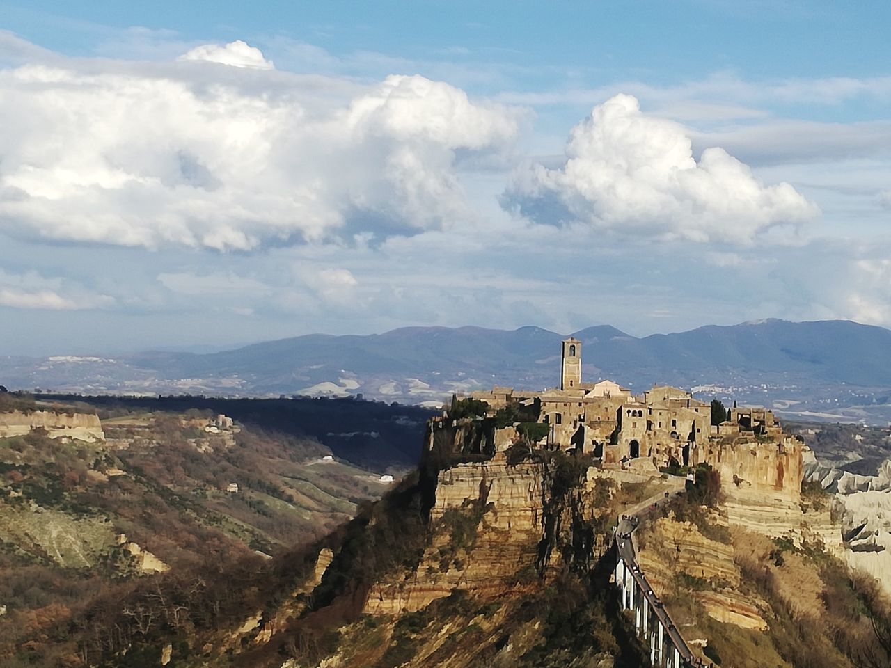 Old Ruin Architecture History Cloud - Sky Fort Building Exterior Built Structure High Angle View Travel Destinations Ancient Outdoors Day Prison Sky No People Ancient Civilization Astronomy Italy Landscape Civita Di Bagnoregio Travel