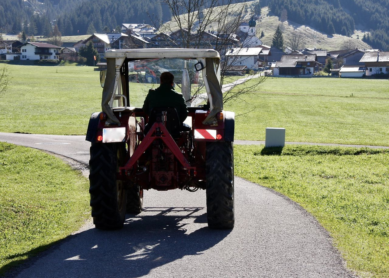 Agriculture Alps Architecture Early Morning Field Grass Land Vehicle Landscape Light Light And Shadow Man Nature Outdoors People Real People Rear View Shadow Spring Sunlight Tannheimer Tal Technology Transportation Travel Tree Village Let's Go. Together.