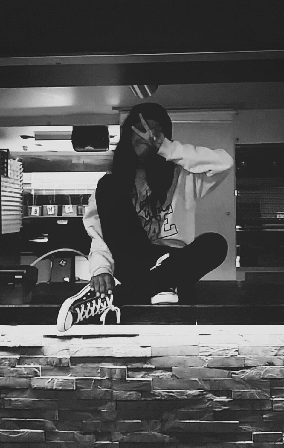 Sitting at the bar like wateveeeeerrr At Bar Mini Bar Attack Enjoying Life Happiness Vintage Taking Photos Beauty Today's Hot Look Eye Em Around The World Grunge Photographer Photography Black And White Peace