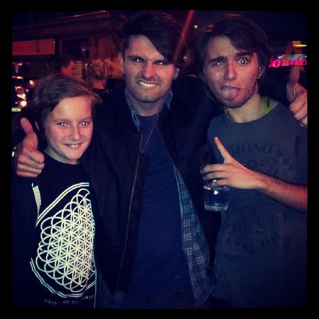 @grantburfoot look who i met!!! Mike Lowerthanatlantis Postgighair Bmth london brixton littlebro