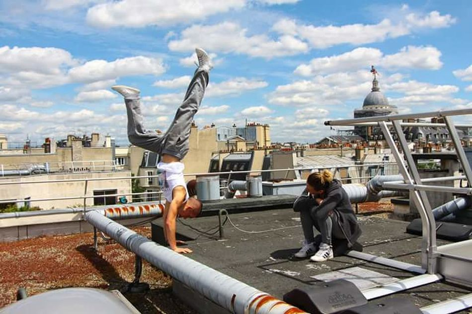 Handstanding on Parisian Rooftoop Architecture Adult City Sky People Occupation Young Adult Cityscape Outdoors Parkour Sports Photography Urban Lifestyle Exploring Parkourlife Urbexphotography Rooftop Athlete Handstand  Handstandeveryday Model Urbex_rebels Parkoureducation Paris Paris ❤ Paris, France