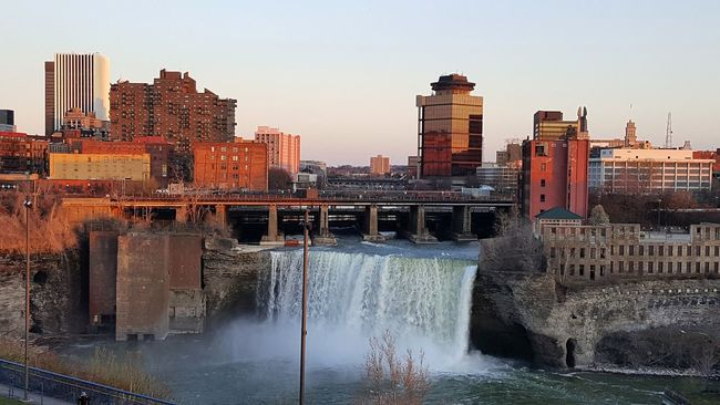 Rochester, NY. On top the Genesee Brewery restaurant. Falls Fallsview Waterfall Waterfalls Genesee Genesee River Geneseeriver Rochesterny  Rochester, NY Skyline