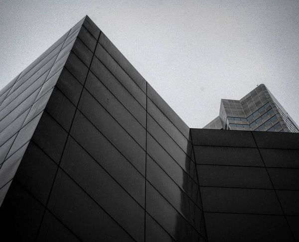 Architecture Building Exterior Built Structure City Clear Sky Corner Corners Day Low Angle View Modern No People Outdoors Pointy Sharp Sky Skyscraper