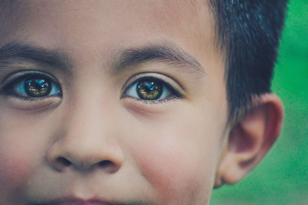 """Luminous"" Eye Bright Green Portrait"