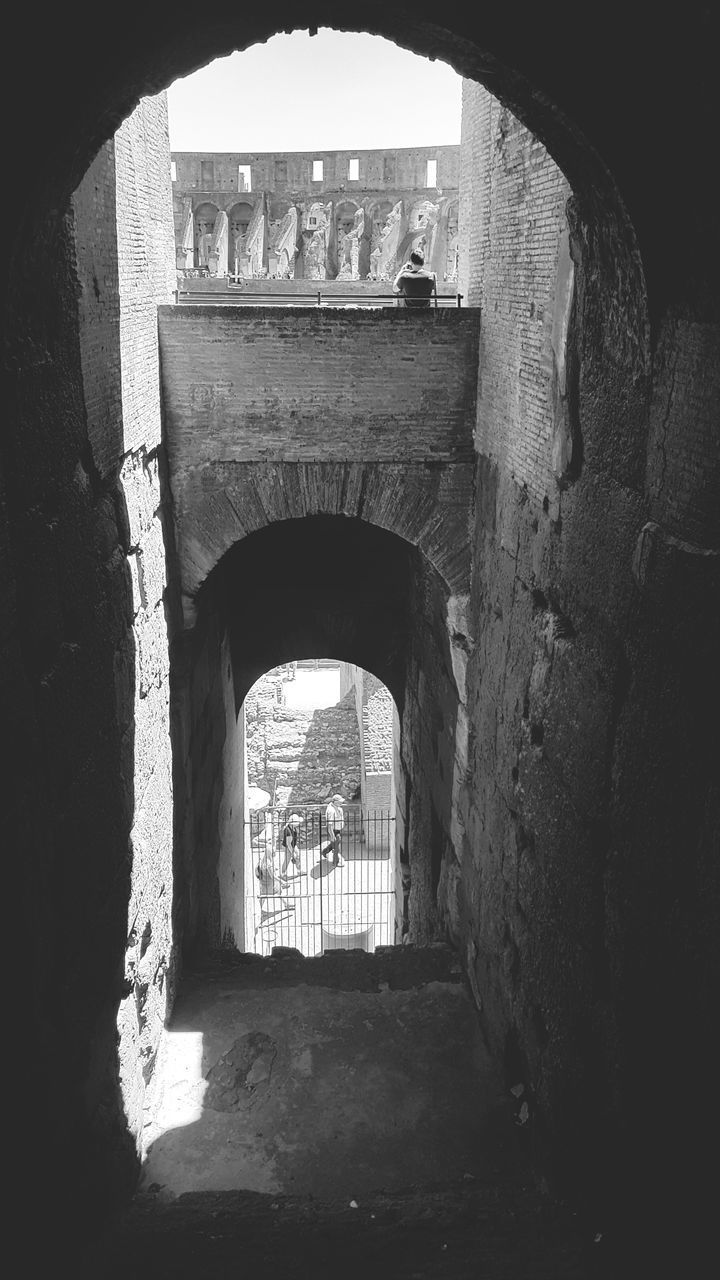 arch, architecture, built structure, indoors, history, entrance, archway, day, doorway, ancient, old ruin, sunlight, real people, one person, people