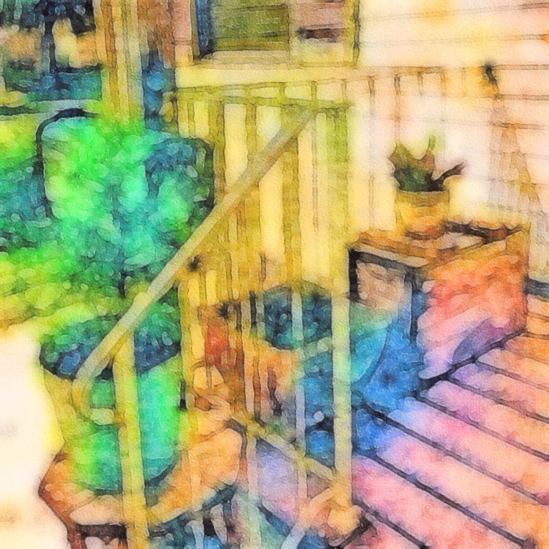 On the porch. NEM Painterly Ipmanifesto NEM Still Life Ultra Color