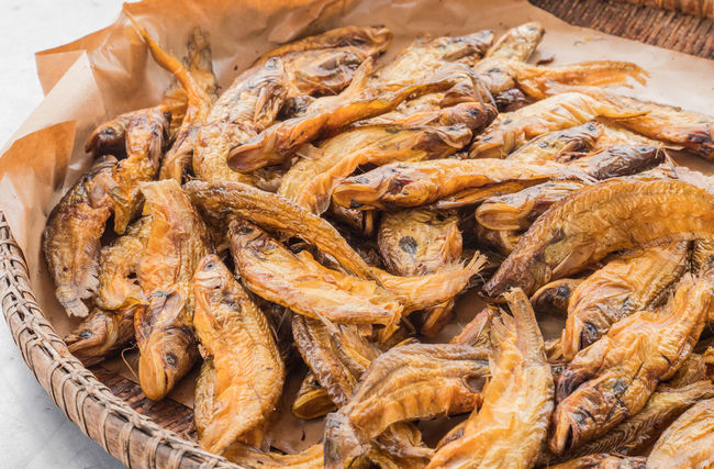 Abundance Bamboo Basket Brown Catfish Close-up Dried Food Dry Fish Fish Soup Food Freshness Freshwater Fish Full Frame Group Healthy Eating Heap Indulgence Large Group Of Objects Local Meal Nutrition Preserve Ready-to-eat Smoked Fish Still Life Thai