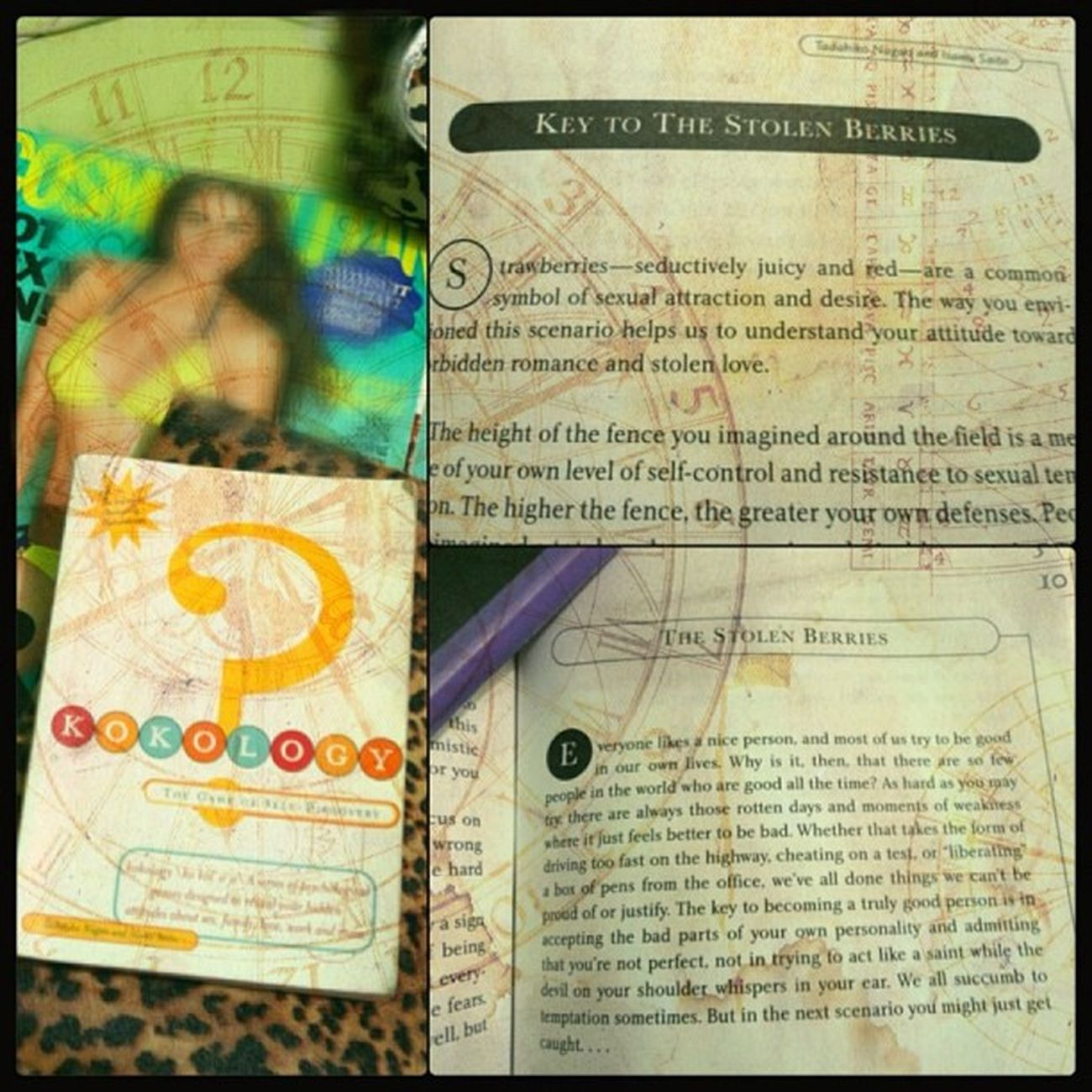 Getting to know myself through Kokology ! This book is a microscope into my soul...a Cheaper portable version of a psychologist, psychoanalyist, and counselor all in one. Hahaha Mustread Selfconfessed kokologyaddictinteresting 👍😉