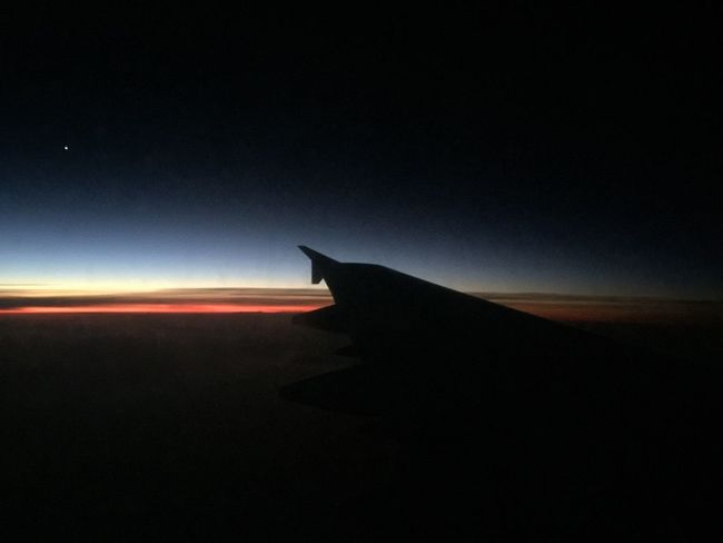 Beauty In Nature Airplane Sky Airplane Wing Travel Destinations Sea Astronomy Flying One Star Auf Wiedersehen Air Berlin Morning Light No Filter No Filter, No Edit, Just Photography No Edit/no Filter Be. Ready.