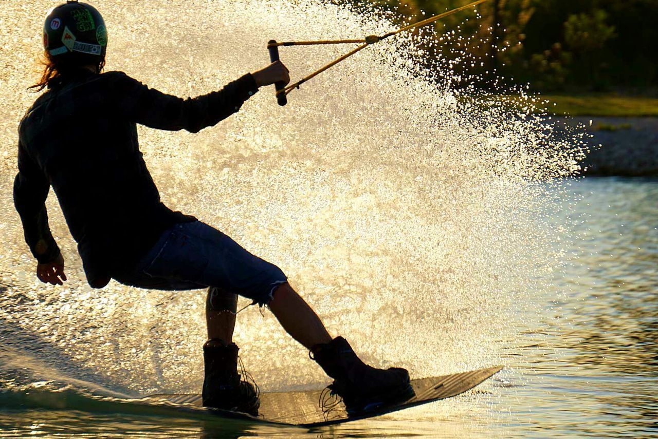 Silhouette Full Length One Person Only Men Water One Man Only Outdoors Adults Only Adult People Day Men Real People Young Adult Wake Wakeboard Wakebording