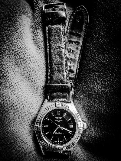 Lieblingsteil Time Clock Number Close-up Instrument Of Time Minute Hand No People Clock Face Indoors  Watch Wristwatch My Old Watch Black And White Black & White Black And White Photography IPhoneography