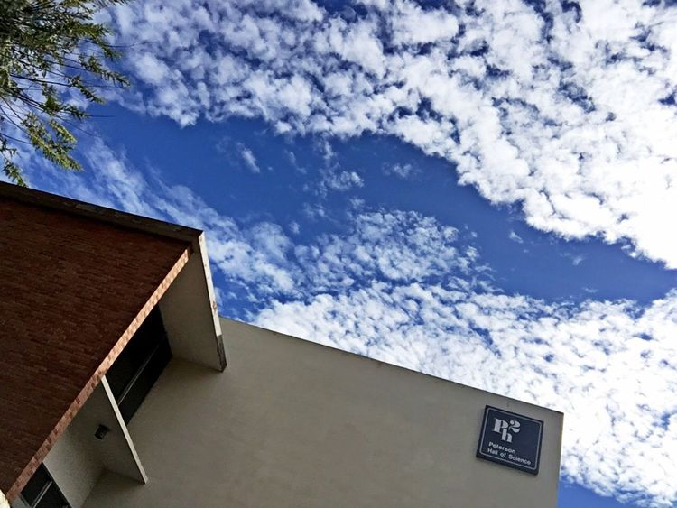 Aynaphotography School School Days CSULB Blue Sky Trees Blue Sky And Clouds Urban Geometry Building At A Lecture