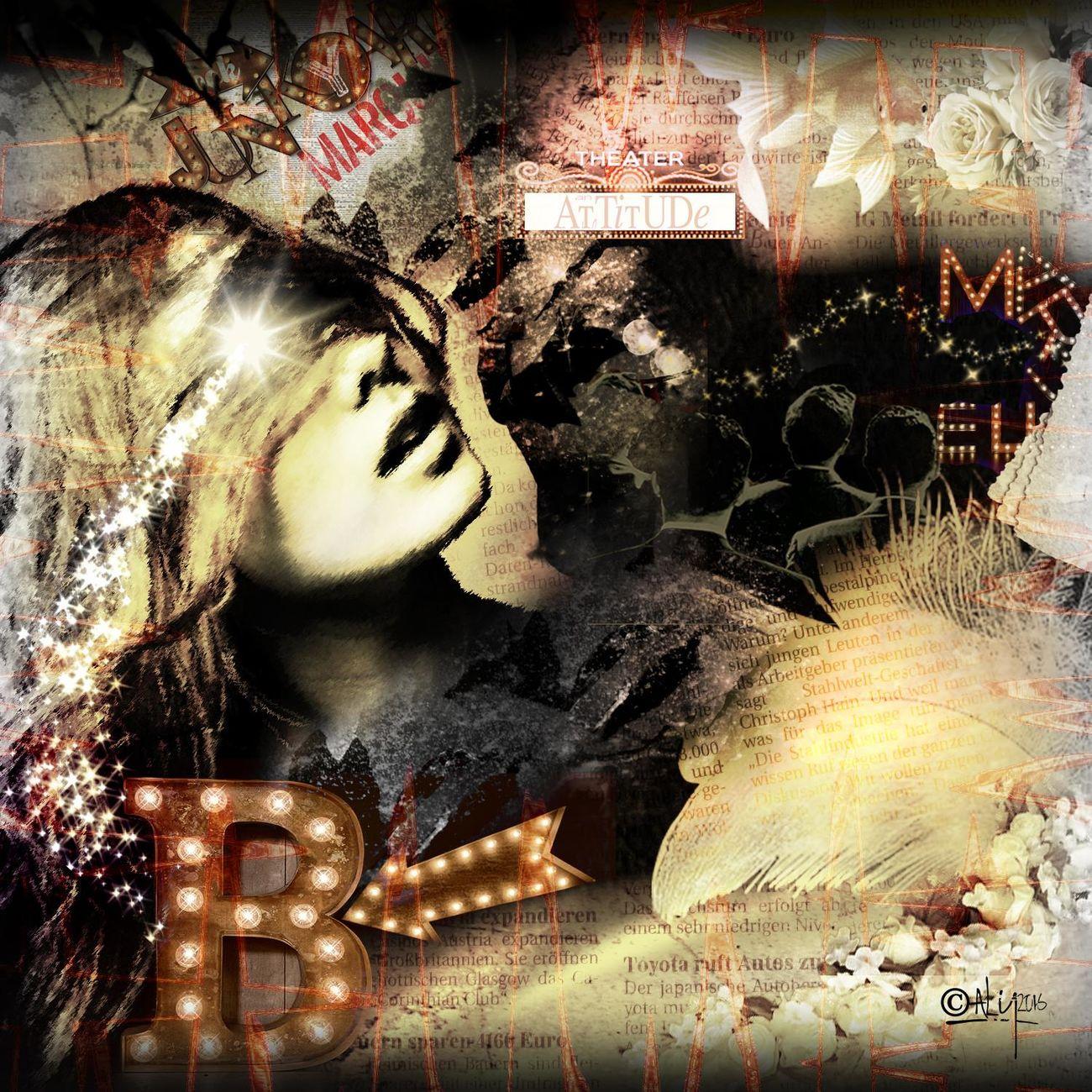 Collage Collage Art Digital Art Dream El Drama De Aly Magaly Avila Photo Montage Sureal Art  Theater Woman Portrait