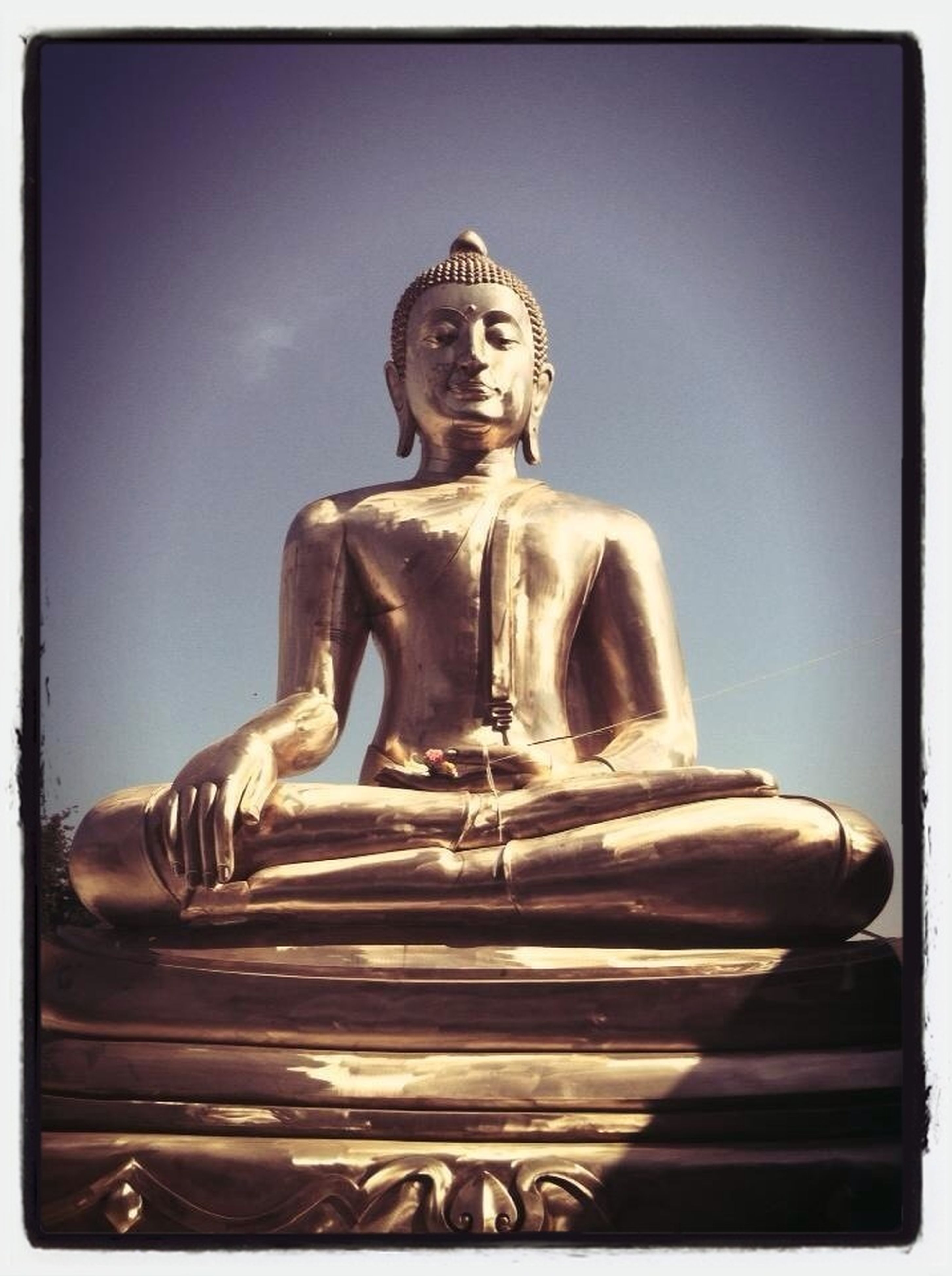 statue, human representation, sculpture, art and craft, art, religion, creativity, spirituality, low angle view, place of worship, buddha, transfer print, auto post production filter, sky, temple - building