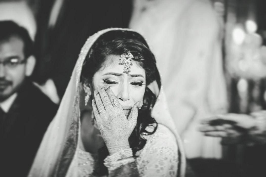 Bride Tears Beautiful Wedding Photography Wedding Emotions Faryabshah Canon