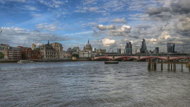 London City Saint Paul's Cathedral Thamesriver Londoncentral City View