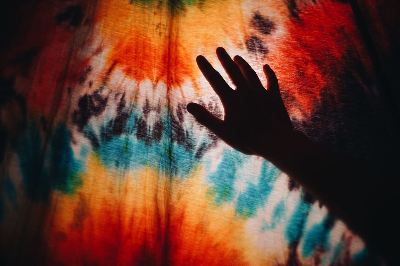 Human Hand Multi Colored Indoors  One Person Human Body Part Real People Silhouette Close-up Day People Place Of Heart