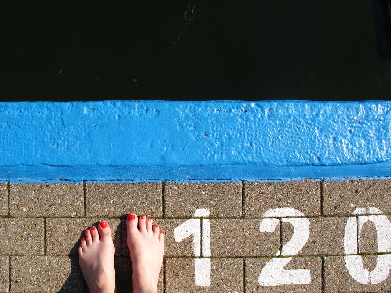Not deep but dark Poolside Relaxation Summer Water Barefoot Swimming Pool Natural Pool Outdoor Pool Open Air Bath Floortraits Nail Varnish Marks A Bird's Eye View Digits Sign At The Edge Of Human Foot Dark Waters Seagrass Canon From My Point Of View Minimalism Minimalobsession Simplicity The Color Of Sport