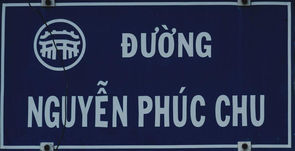 Street sign, Hoi An, Vietnam Blue Hoi An Vietnam FUJIFILM X-T2 Street Sign Street Sign