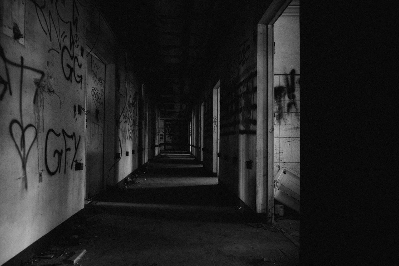 Empty Corridor At Abandoned Building