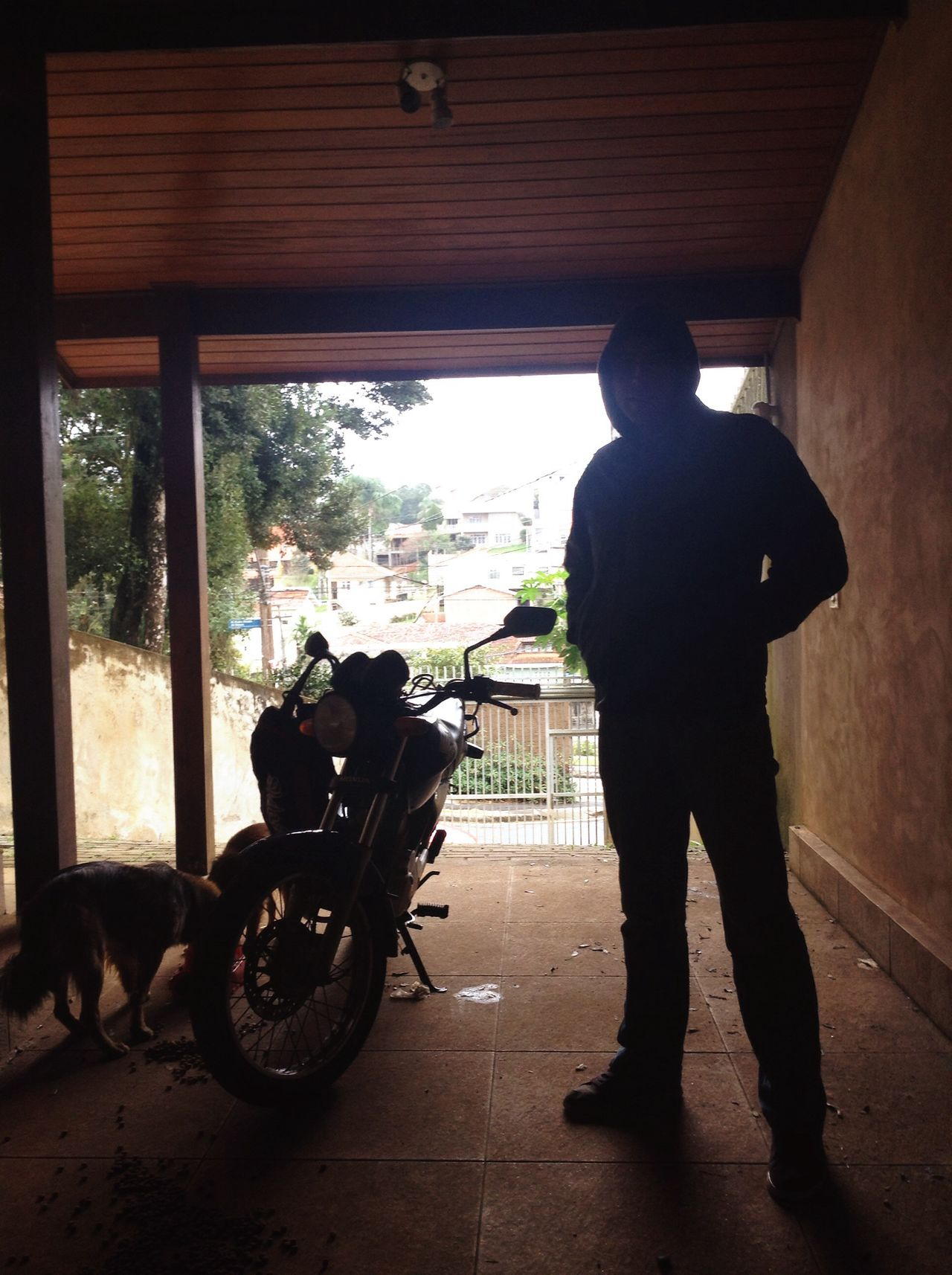 Photograph Variation Day Roher Teig roher Real People Indoors  Motorcycle Full Length Transportation One Person Men Lifestyles Standing Built Structure Architecture One Man Only Mammal Adult People