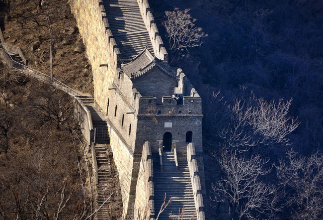 Great Wall Great Wall Of China Winter Architecture Building Exterior Built Structure Chinese Wall Cold Cold Temperature Contrast Day Dividing Line No People Outdoors