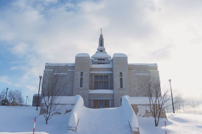 EyeEm Best Shots Snow Winter Cold Temperature Building Exterior Built Structure Architecture Travel Destinations Religious Architecture Temple Lds Temples Sky Place Of Worship