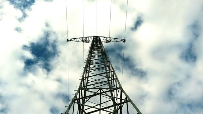 Electric Tower  Clouds