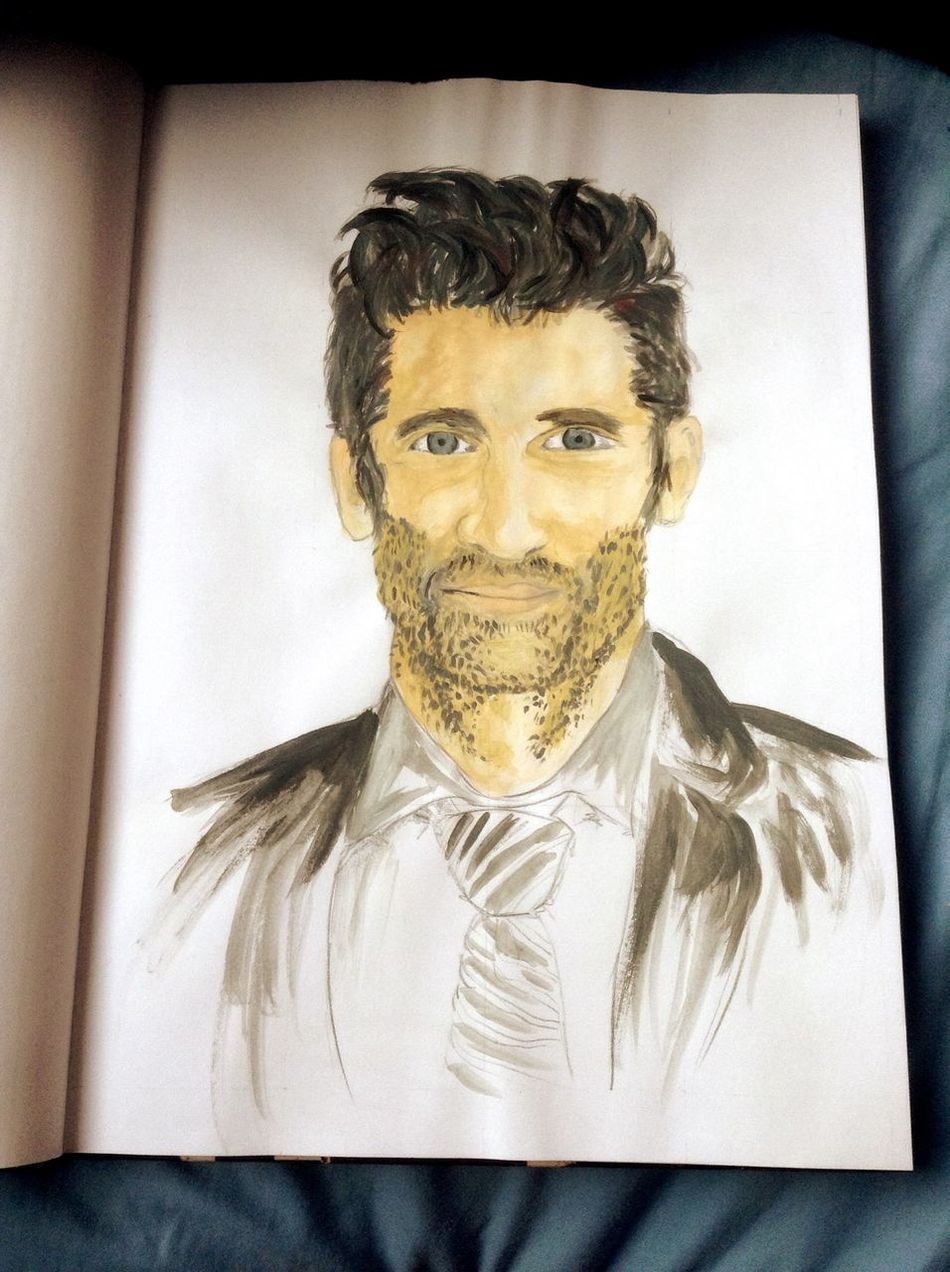 Drawing Patrick Dempsey Painting looked better unpainted but oh well