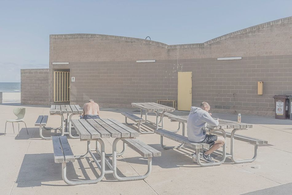 MelbournePhotographer People Watching People On The Beach Chair Architecture Sitting Two People Day Outdoors Full Length Built Structure Building Exterior Togetherness Men Sky People Only Men Young Adult Adults Only Adult