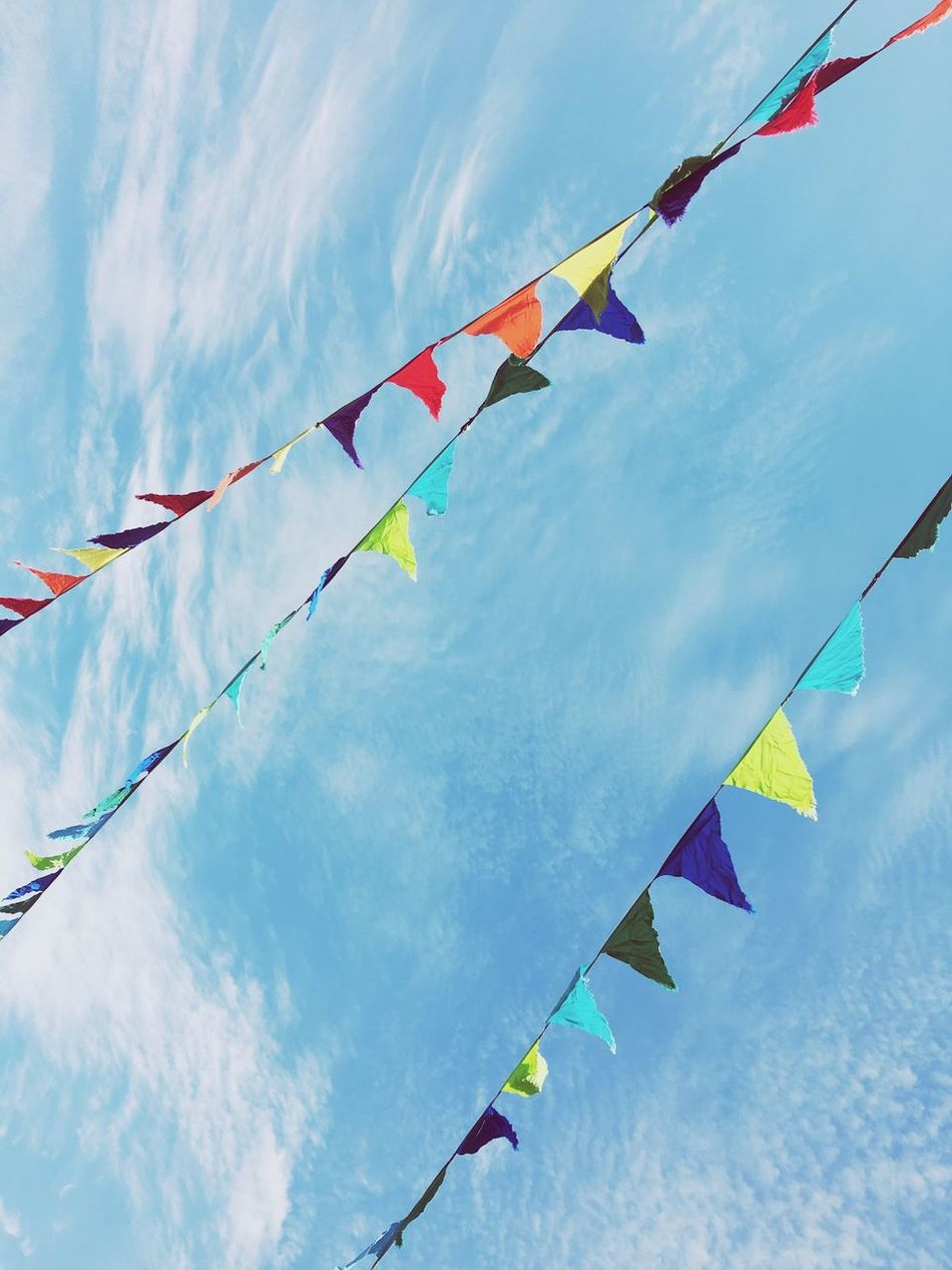 Carnival Festival Colors Colours Colorful Colourful Color Colour Flag Flags Flags In The Wind  Sky Clouds And Sky Clouds Festival Festive Sts2016