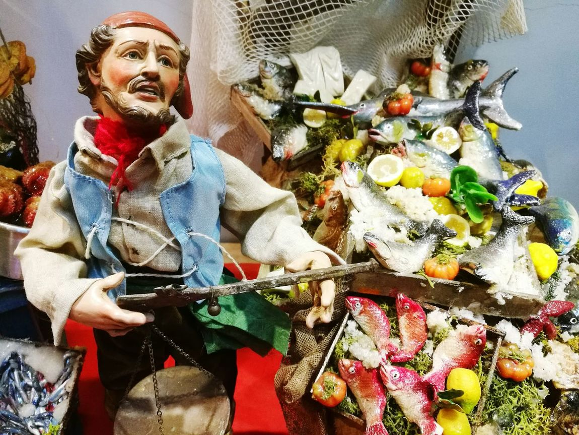 One Person One Man Only Adults Only Men Adult People Only Men Outdoors Period Costume Day Figurine  Presepe Fish Fisherman Naples Italy Sangregorioarmeno Street Italian Culture