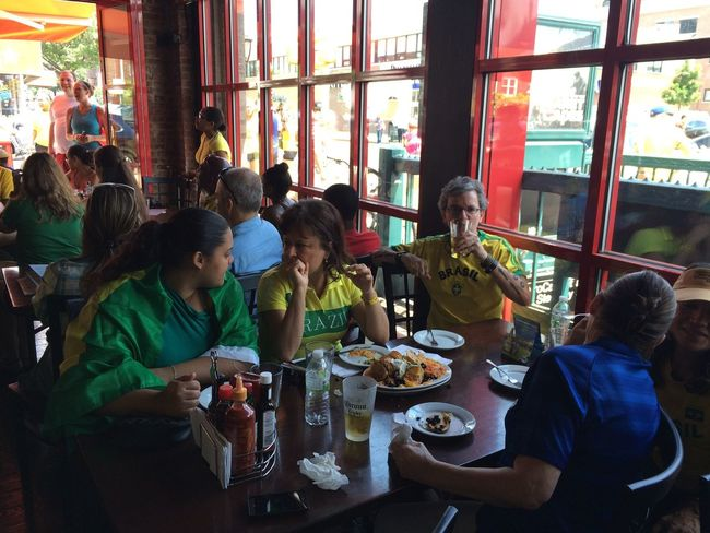 Soccer Fans during the World Cup Game Brazil X Chile in Astoria, New York Photo by Luiz Rampelotto/EuropaNewswire