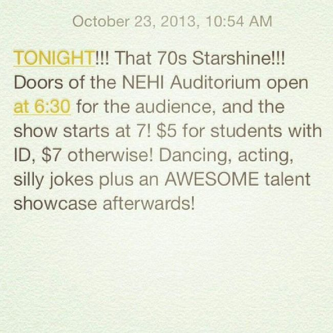 School Function StarShine Singing dancing acting talent that70sshow come out funny mashup music drama students production