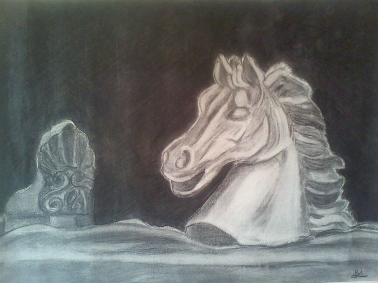 Black And White Galloping Dreams Headman Hope Horse Mane Rider Running White Horse Wind