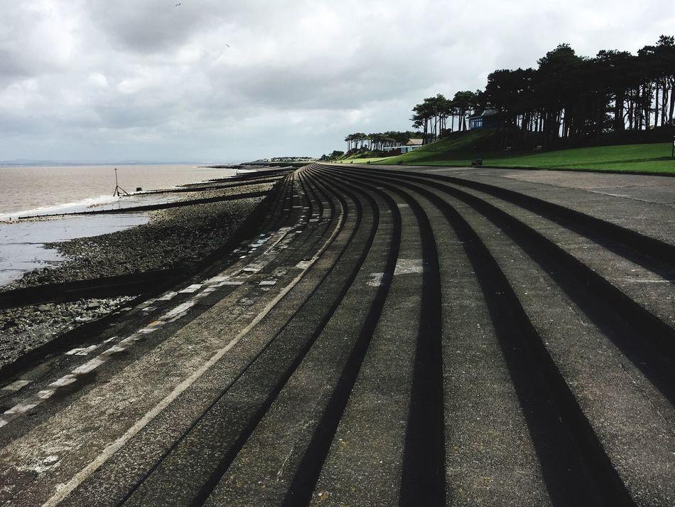 Steps Esplanade Coastline Coastal