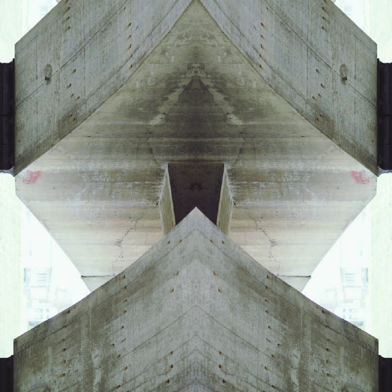 Cut And Paste Architecture Built Structure Symmetry Outdoors Abstract Photo Olympus Pen-f Geometric Shape Architecture Photomanipulation Illustration Yes Please Looks Like Sid Fromthe MOVIE Ice Age Made In Vilnius Lithuania