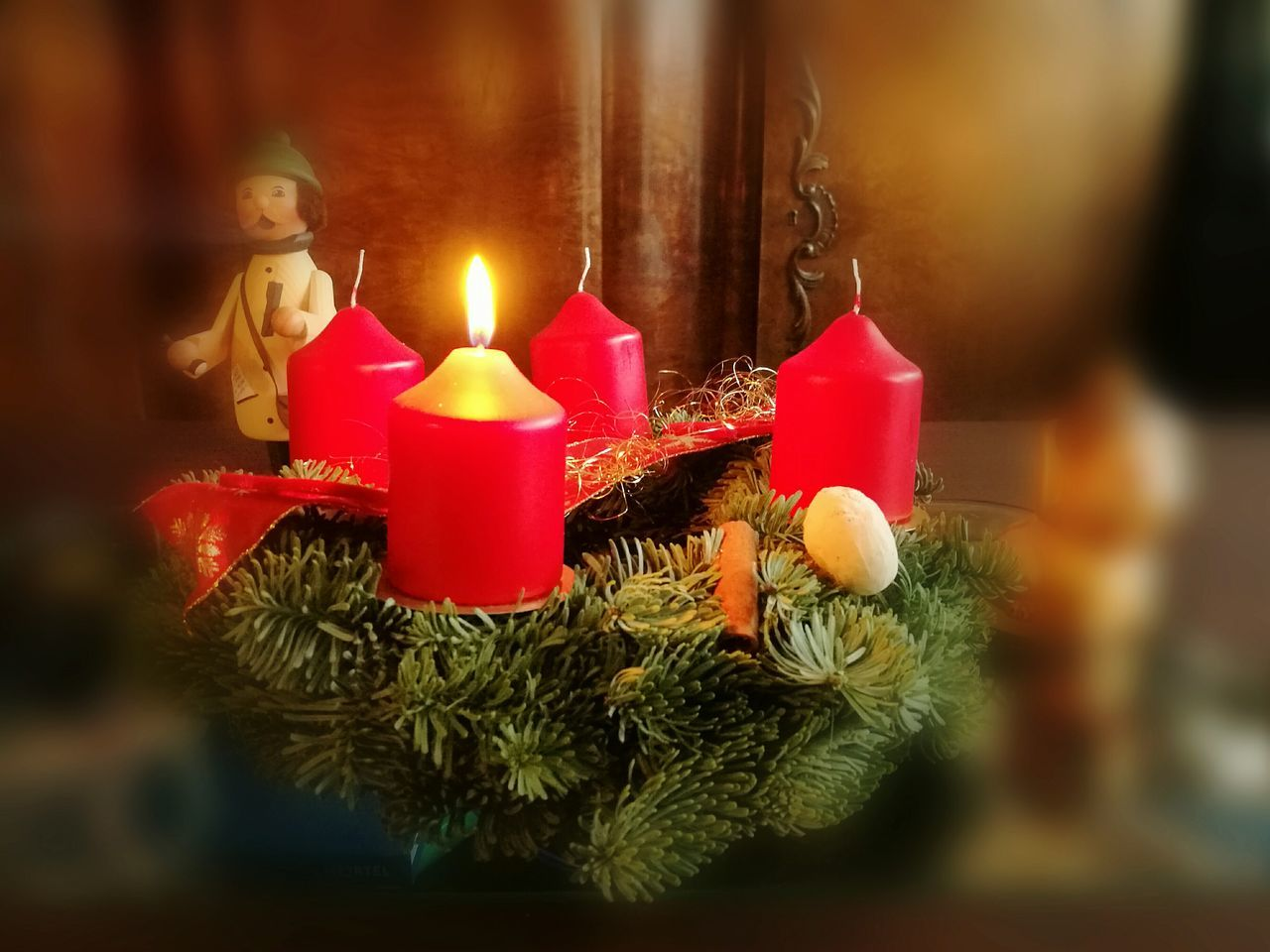 candle, christmas, flame, celebration, decoration, indoors, burning, tradition, religion, christmas decoration, spirituality, selective focus, close-up, christmas ornament, no people, red, home interior, illuminated, tree, day