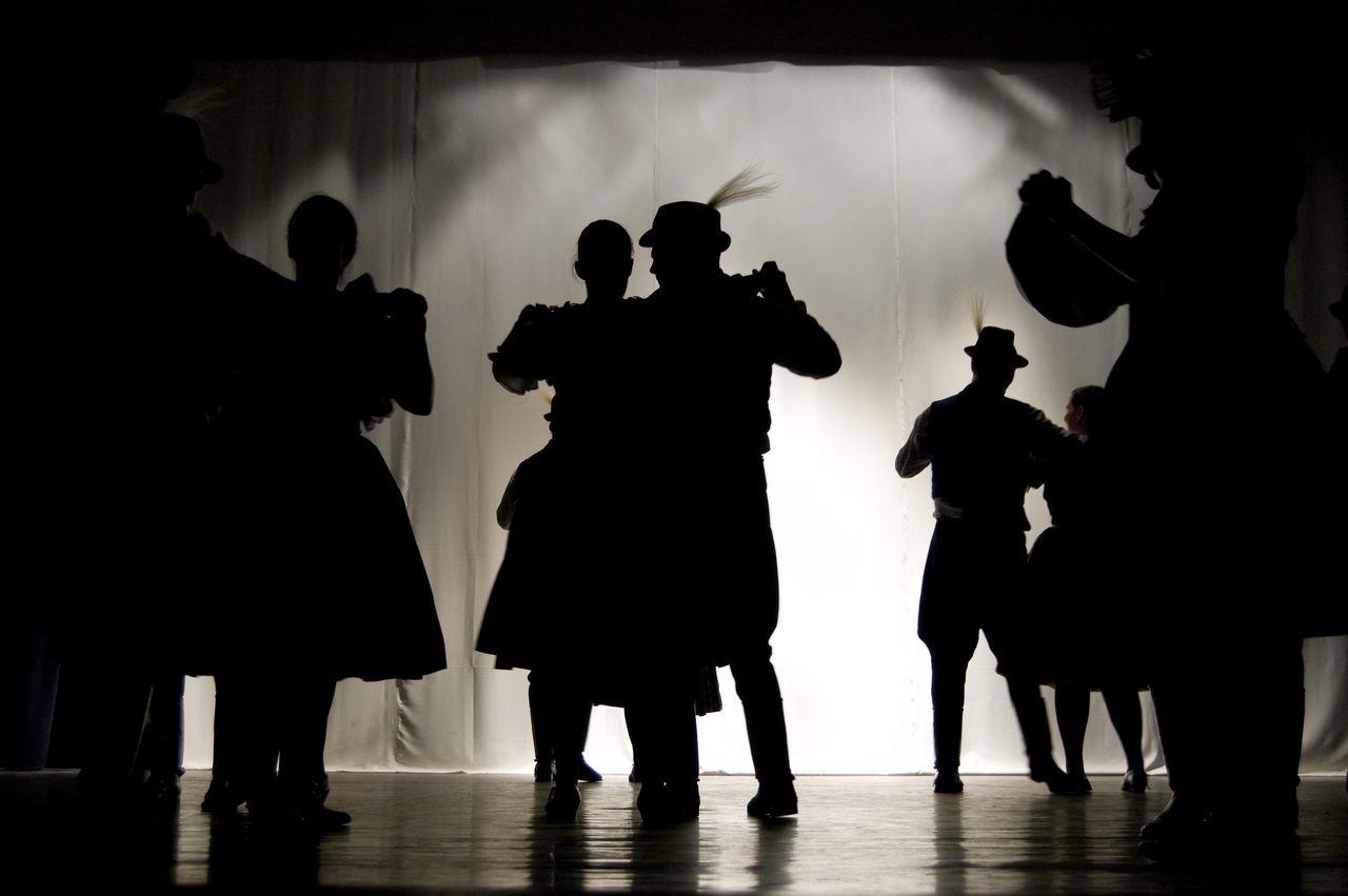 Blackandwhite Dance Dark Folk Dance Group Of People Hungarian Leisure Activity Silhouette