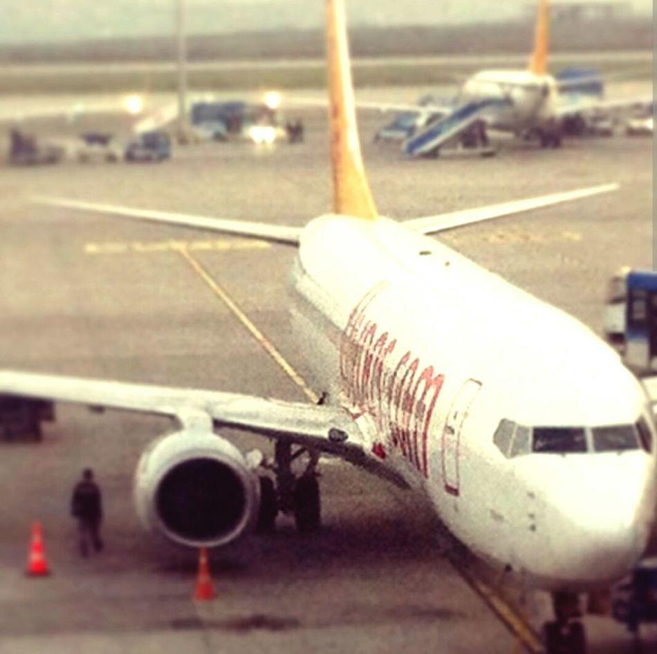 From An Airplane Window Flypgs Antalya Turkey To  Sabihagökçenhavalimanı