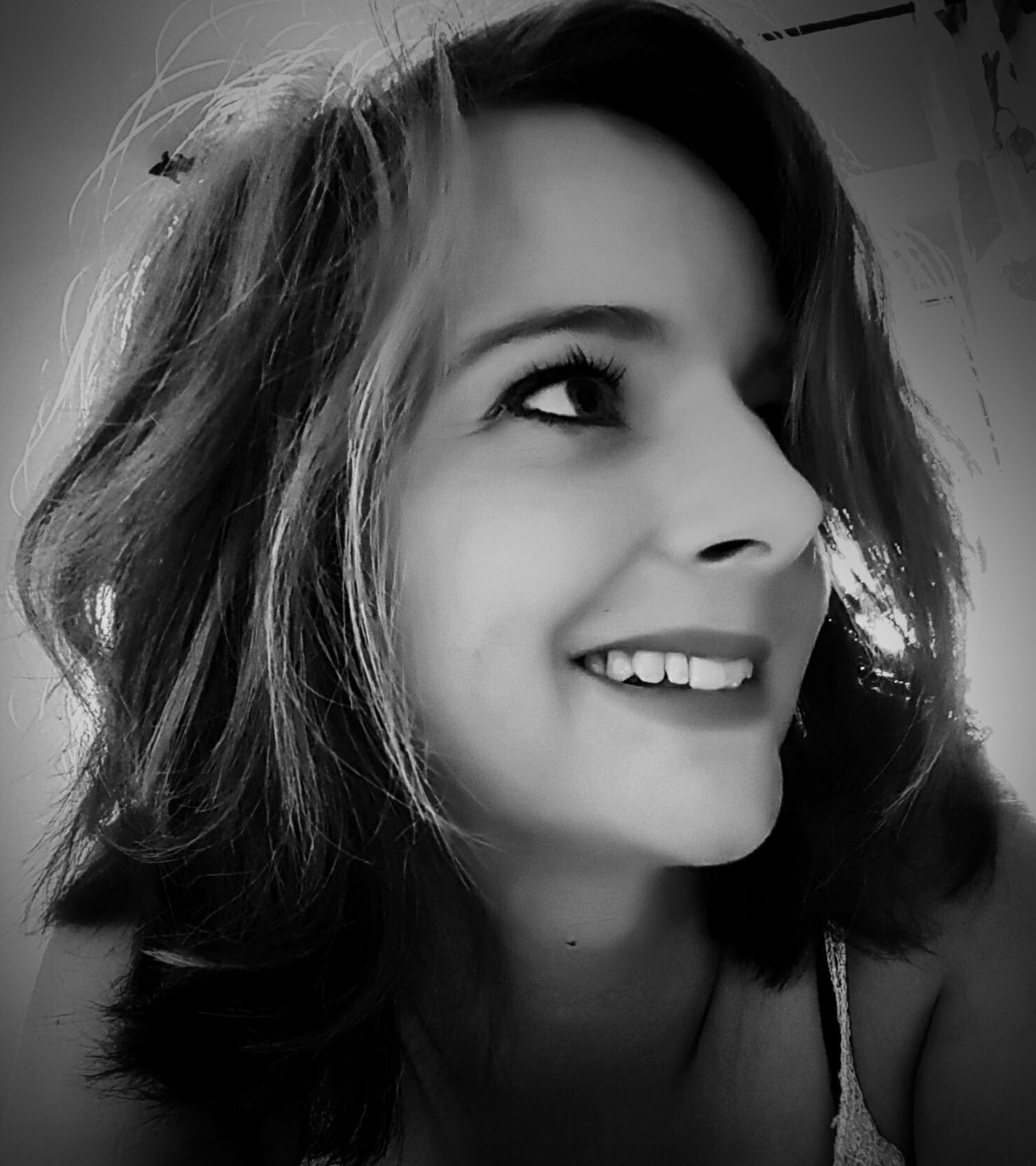 Portrait Looking At Camera Headshot Human Face Real People Smiling Only Women One Person Adult Adults Only People Human Body Part Eye4photography  Taking Photos EyeEm Gallery Eeyem Photography Blackandwhite Blackandwhite Photography Black And White Portrait Woman Portrait Self Potrait Myself