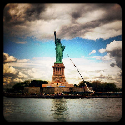 Taking Photos at Statue of Liberty by Flavio Di Pirro™