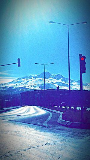 City Lights Turkey Mountains Winter Snow Kayseri
