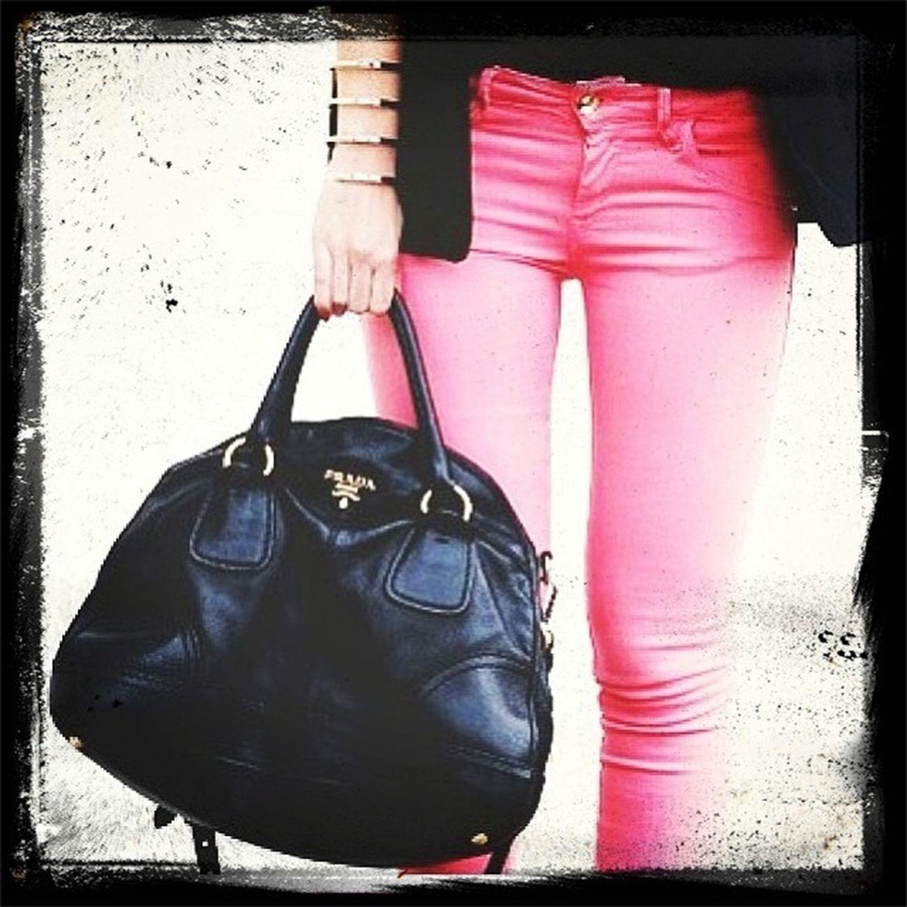 Love hot pink pants!! Denim Prada Bottoms Coordinate
