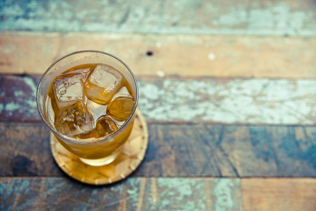 Drink Focus On Foreground Food And Drink Freshness High Angle View Iced Iced Tea No People Non-alcoholic Beverage Refreshment Rustic Style Wooden Background